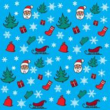 新年和圣诞节样式 库存照片
