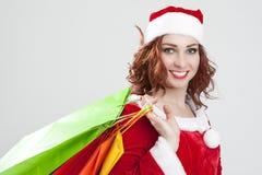 新年和圣诞节概念和想法 La特写镜头画象  库存图片
