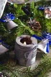 新年和圣诞节辅助部件 免版税库存照片