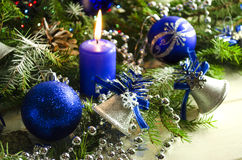 新年和圣诞节辅助部件 库存图片