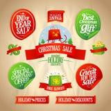 新年和圣诞节销售设计汇集。 免版税库存照片