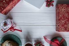 新年和情人节集合茶杯 库存照片