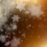 新年和Xmas Defocused背景与眨眼睛星 EPS 10向量 库存照片
