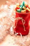 新年2016年 圣诞快乐,圣诞老人红色 库存图片