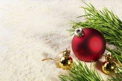 新年圣诞节球 免版税库存图片