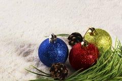 新年圣诞节球 库存照片