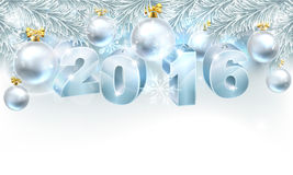 新年圣诞节背景2016年 库存照片