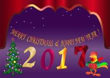 新年圣诞节年最轻量级星传染媒介抽象 免版税库存图片