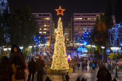 新年在雅典,希腊欧洲巴尔干 免版税库存照片