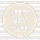 新年好招呼的card9 库存照片