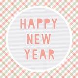 新年好招呼的card14 库存图片