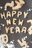 新年好曲奇饼 库存图片