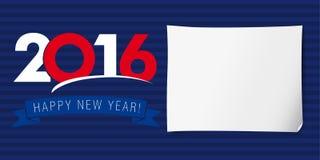 新年好横幅2016年 库存图片