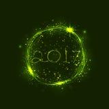 新年好2017个假日背景 2017年新年快乐招呼 库存图片