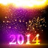 新年好2013五颜六色的庆祝传染媒介de 免版税图库摄影