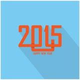 新年好2015创造性的贺卡设计 库存图片