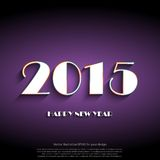 新年好2015创造性的贺卡设计 免版税库存图片