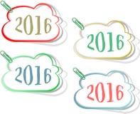 新年好2016创造性的贺卡设计 免版税库存图片