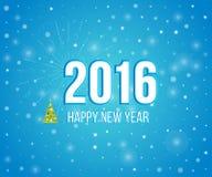 新年好2016创造性的贺卡设计 库存例证