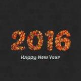 新年好2016创造性的贺卡设计 库存照片