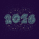 新年好2016年贺卡设计元素 库存图片