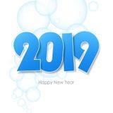 新年好2019年贺卡 库存图片