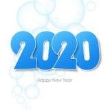 新年好2020年贺卡 免版税库存照片