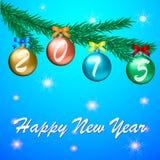 新年好2015年庆祝贺卡 库存例证