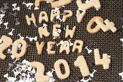 新年好2014年曲奇饼 免版税库存照片
