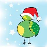 新年小鸟 库存照片