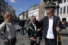 新闻工作者REIMER BO克里斯滕森PROMOTS他的ALMBUM 免版税库存照片