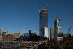 新建工程在纽约 免版税库存照片