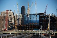 新建工程在纽约 库存照片