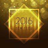 新年2016年庆祝的典雅的贺卡 库存例证