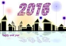 新年庆祝背景卡片 免版税库存照片