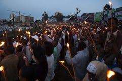 新年庆祝,亚的斯亚贝巴,埃塞俄比亚 库存照片