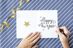 新年年鉴庆祝12月事件概念 库存照片