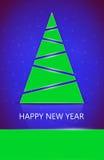 新年度结构树 免版税库存图片
