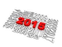 新年度2015年 免版税库存照片