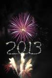 新年度2013烟花 库存照片