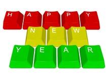 新年快乐个人计算机钥匙 免版税库存图片