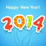 新年快乐五颜六色的贺卡与 免版税库存照片