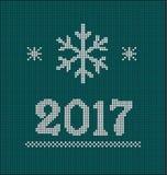 新年快乐卡片2017年 免版税图库摄影