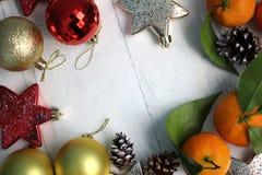 新年快乐和与圣诞节结婚 库存图片