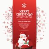 新年快乐圣诞老人设计模板 免版税库存图片