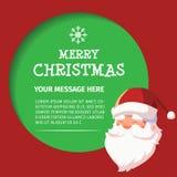 新年快乐圣诞老人谈话设计 免版税库存照片