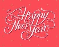 新年快乐字法贺卡 免版税库存图片