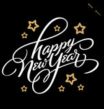 新年快乐手字法() 免版税图库摄影