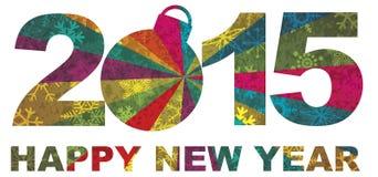 2015年新年快乐数字例证 图库摄影