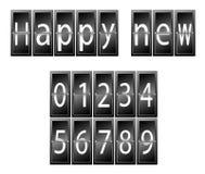 新年快乐数集时间表 图库摄影
